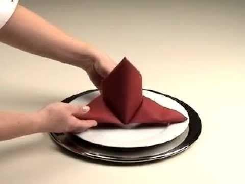 Schleppe: Servietten falten Anleitung
