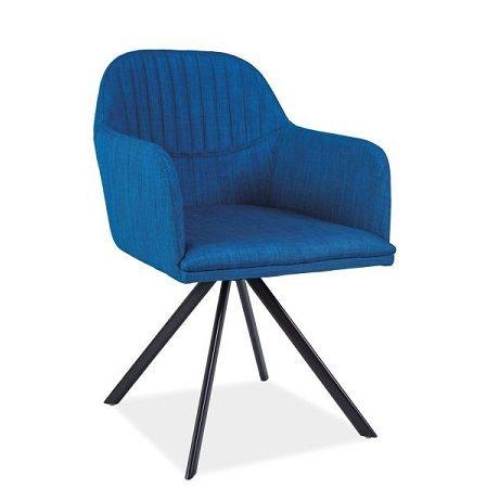 Designul modern al scaunului Toby este definit de confort. Cromatica surprinzatoare a acestui scaun va revitaliza orice incapere. #chair #blue #comfort #inspiring #design #furniture #SomProduct