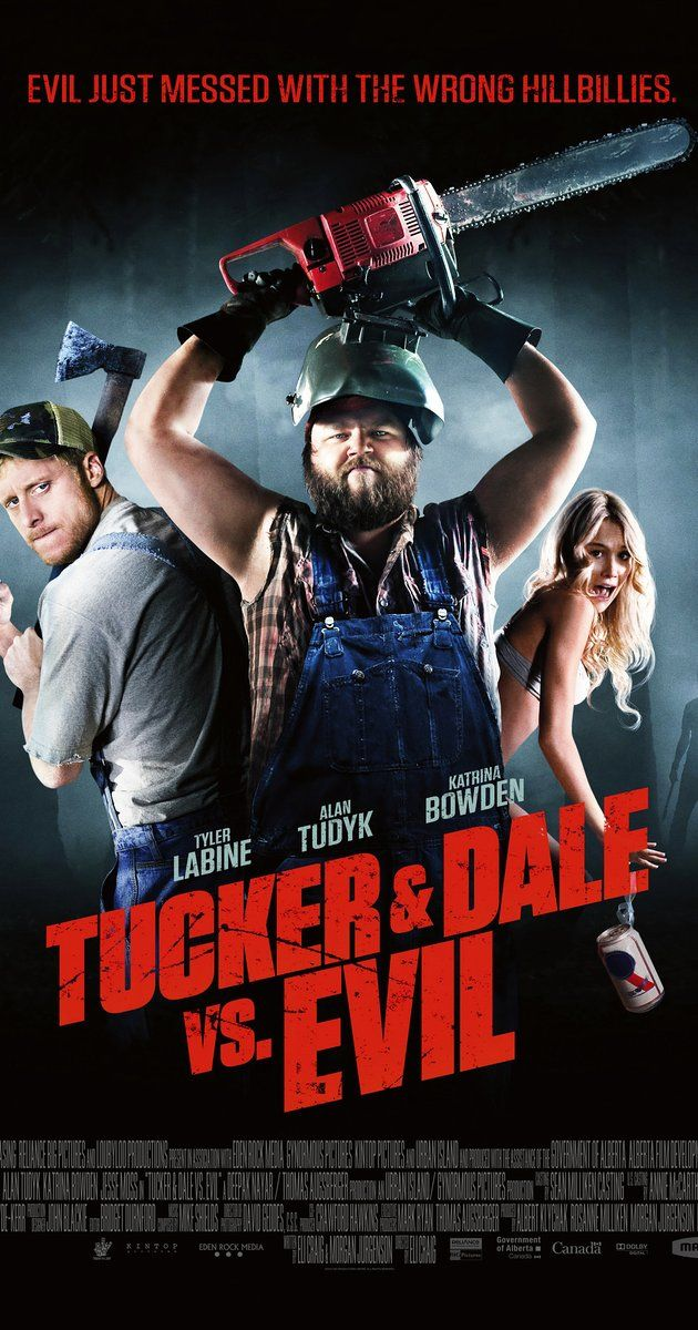 Directed by Eli Craig.  With Tyler Labine, Alan Tudyk, Katrina Bowden, Jesse Moss. Tucker & Dale are on vacation at their dilapidated mountain cabin when they are attacked by a group of preppy college kids.