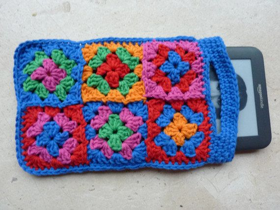Ereader Cover Kindle Kindle Crochet Cover  Granny by FromJeanne, €15.00