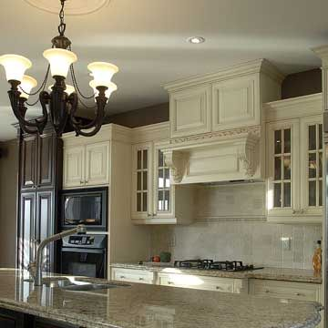 Like The Lines On The Hood And Upper Cabinets...up/down Look. French  Country Style White Kitchen ...