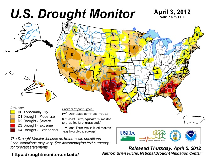 U S Drought Monitor Climate Change Will Increase How Bad And Often Drought Occurs