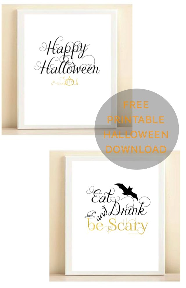 Halloween Bubbly Bar Cart Decor Free Printable Download