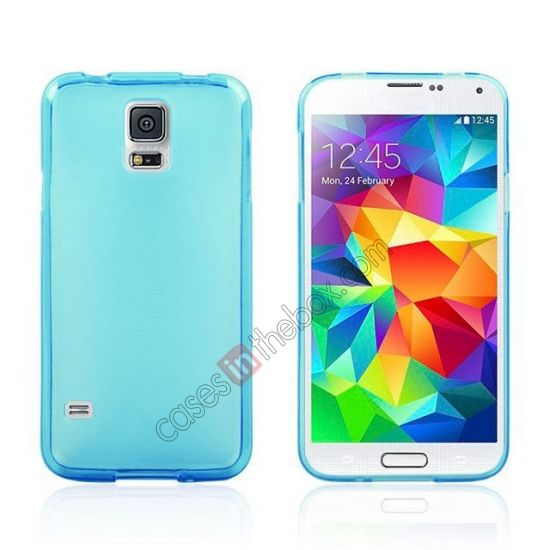 New Ultra Thin Soft TPU Back Case Cover For Sumsung Galaxy S5 - Blue 19121