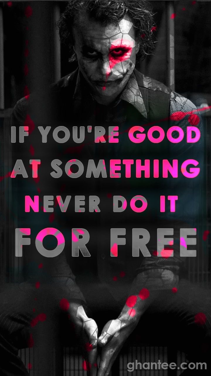 Joker Quotes Mobile Wallpaper With Images Joker Quotes Joker