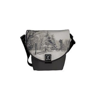 Central Park Winter Path - New York Messenger Bags