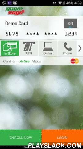 GogoNogo  Android App - playslack.com , Turn your card on and offKeep your cards OFF when you're not using them and only turn them ON when you need to.Control How Your Card is UsedOnly permission your card for use where you need it – for In Store, Online Shopping, at the ATM, or for Mail and Catalog orders.What More Detailed Control?Define what type of Merchant your card can be used at…and you can be as specific as you want.Need to Control a Dependents card?Set their spending limits, define…