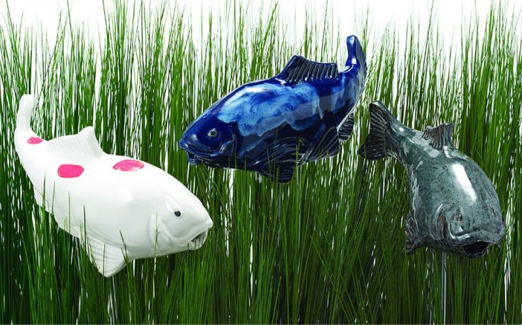 Koi fish ceramic garden ornaments garden ornaments for Koi fish ornament