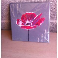 Tableau acrylique - la fleur magique rose -