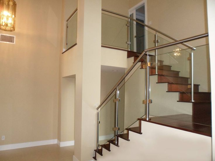 Lighting Basement Washroom Stairs: Modern Glass Stainless Staircases