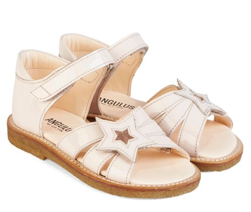 Angulus - Åben sandal - Pudder lak - m/stjerne - Størrelse 25-29
