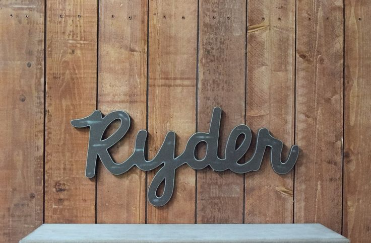 Ryder Baby Name Wooden Sign - Rustic Nursery Decor - Baby name signs for baby showers and home decor by lucysletters123 on Etsy