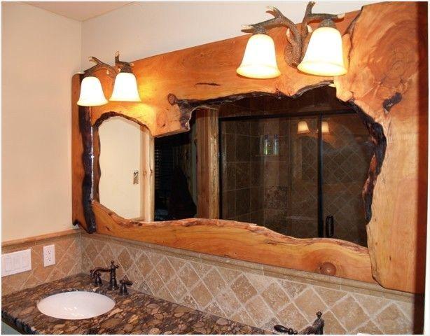 43 Stunning Rustic Bathroom Mirrors Ideas Comedecor Rustic Bathrooms Rustic Bathroom Rustic Bathroom Lighting
