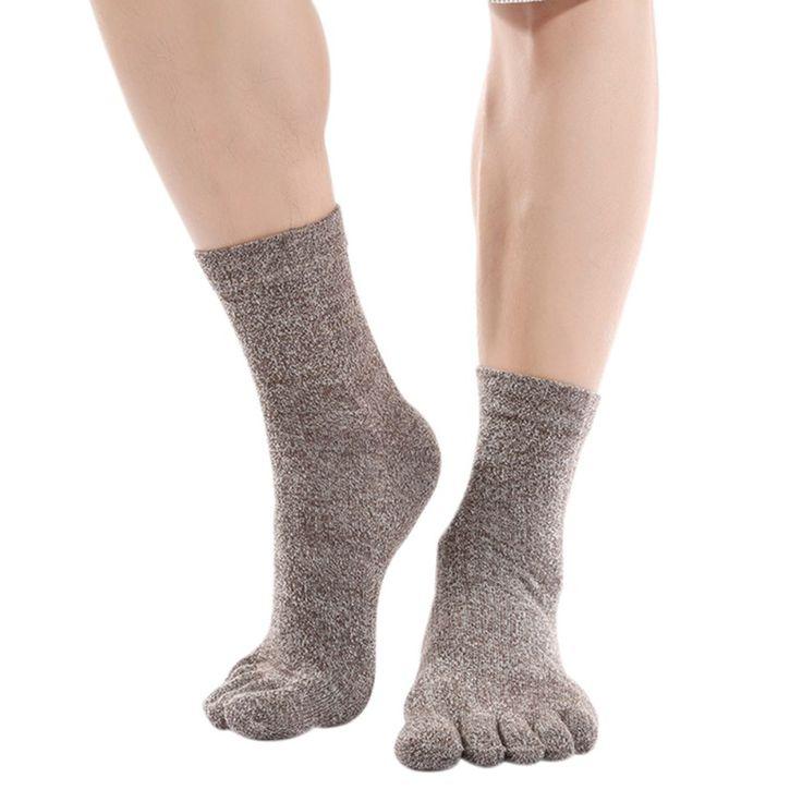 >> Click to Buy << 1 pair Men Socks Spring Winter Cotton Five Finger Socks Casual Toe Socks Breathable Ankle Socks 38-45 VM #Affiliate