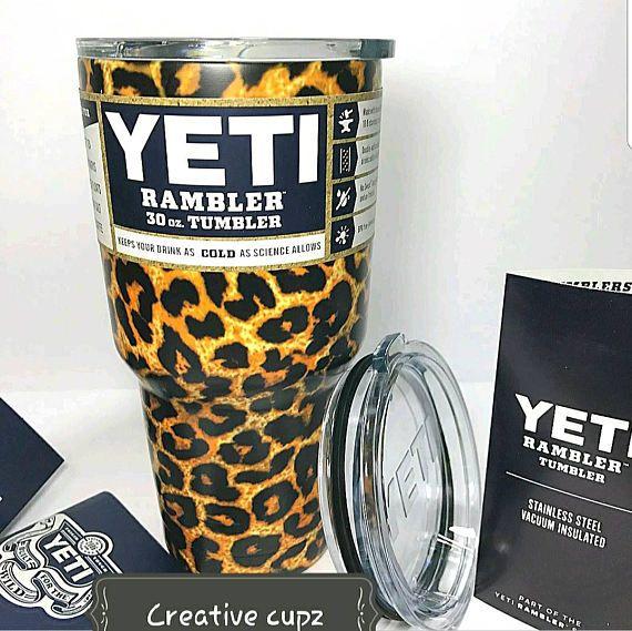 YETI auténtico leopardo 30 oz Rambler vaso taza Yeti de la