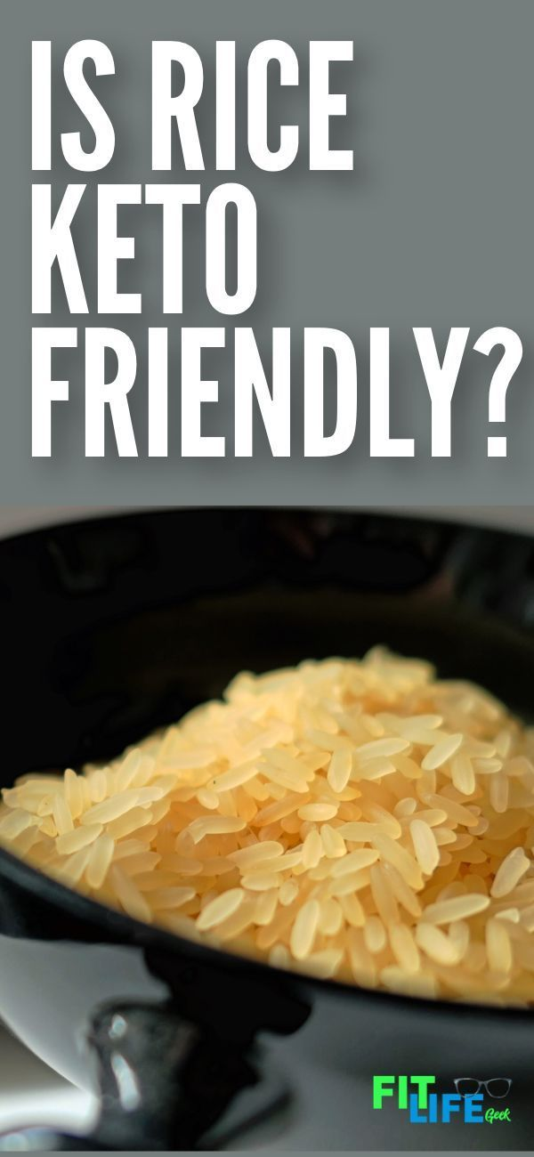 can you eat rice on a ketogenic diet?