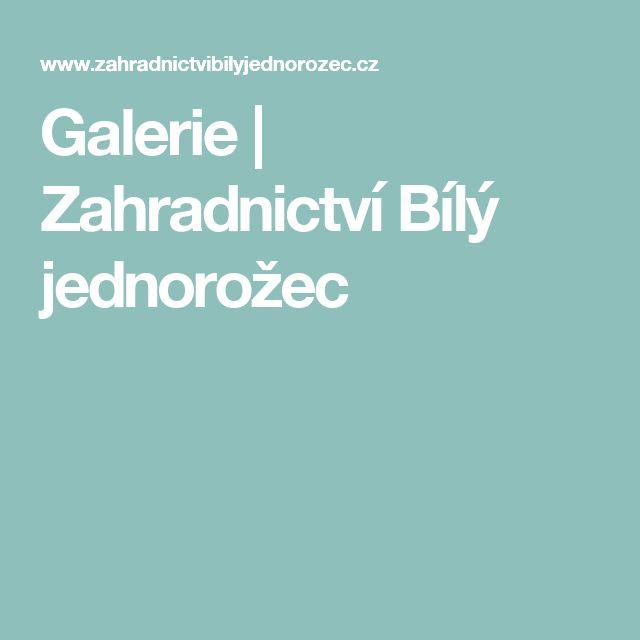 Galerie | Zahradnictví Bílý jednorožec