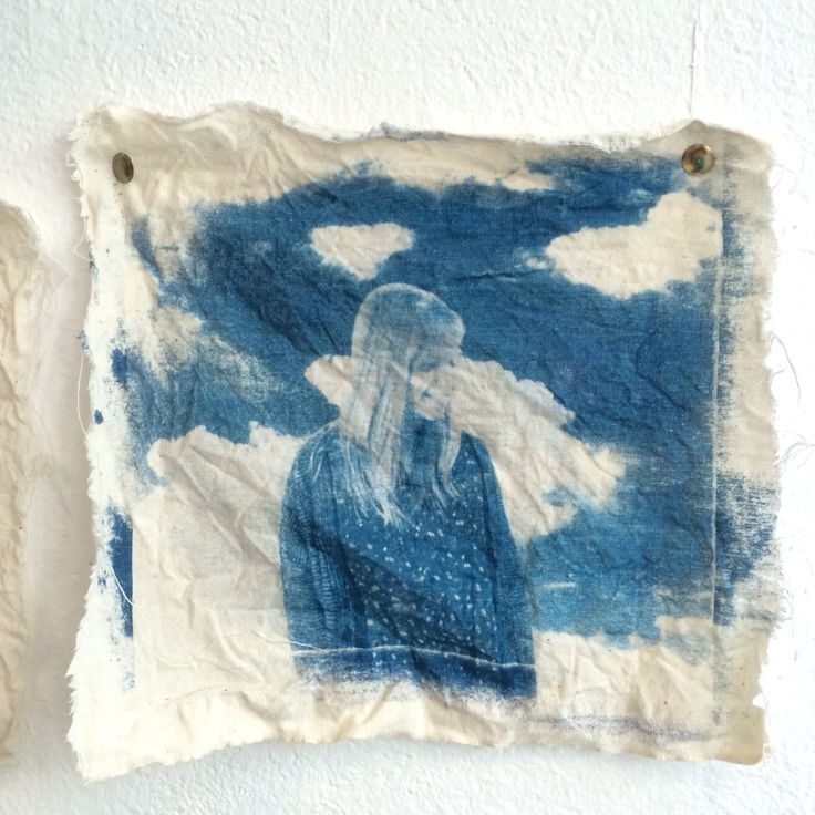 'Darling in the sky'  Josie Mae 2015 Cyanotype on calico.