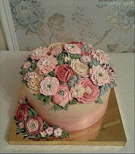 Кремовый торт; dekor-tort.livemaster.ru