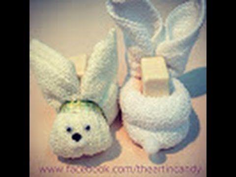 COMO HACER UN CONEJITO DE TOALLA face cloth rabbit