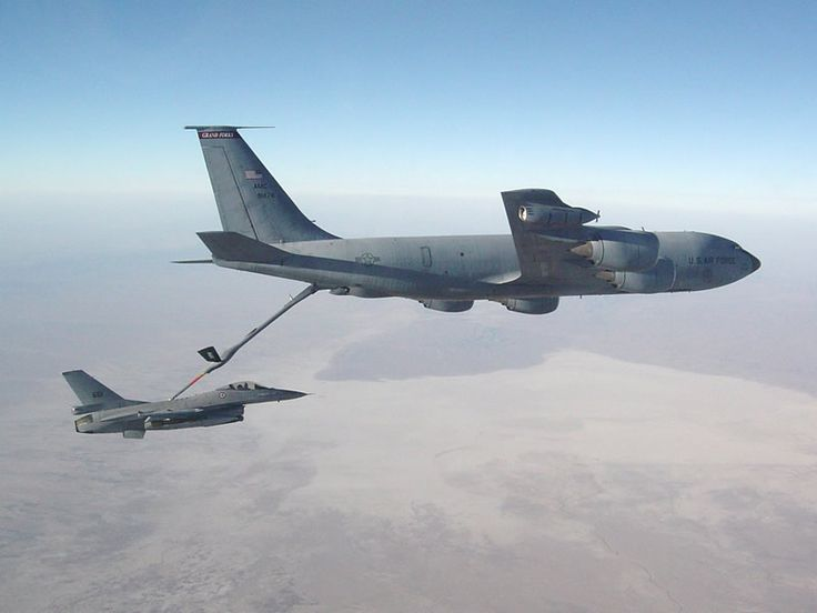 You head Air force refueling aircraft seems