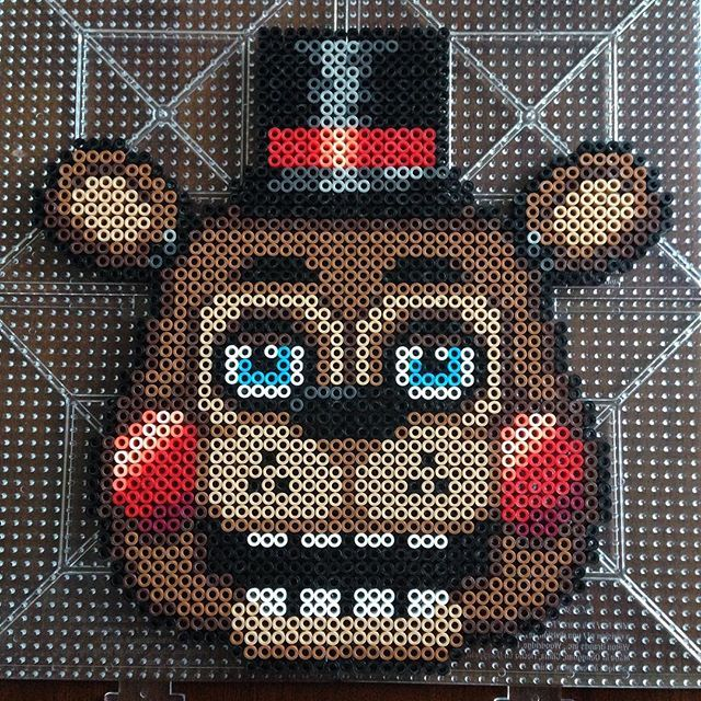 Toy Freddy – Five Nights at Freddy's perler beads by honey.beads