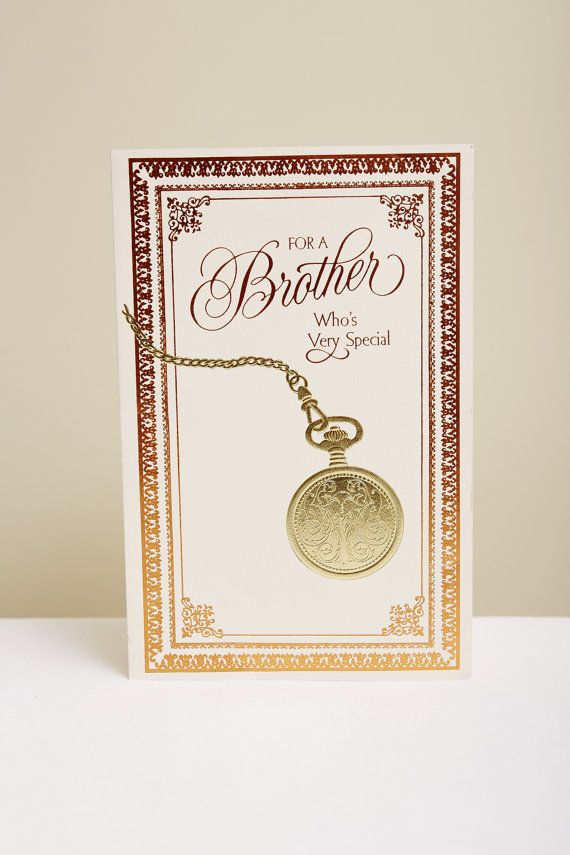 1980s Brother Birthday Card in Metallic by SoftServeVintage
