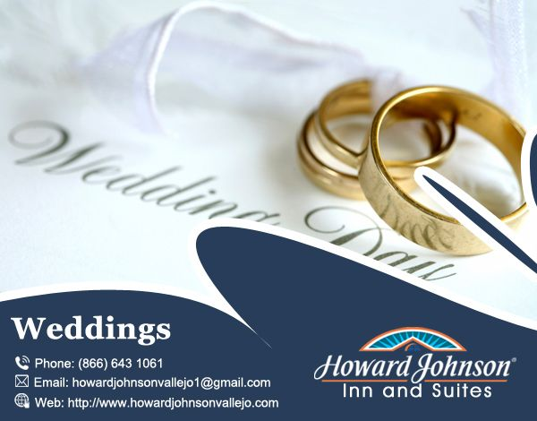 Howard Johnson Inn & Suites of Vallejo is the perfect place for your #Weddings. Visit Us At:- http://bit.ly/2ctBog5