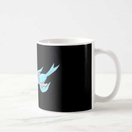 #Rockabilly Boy & Girl Swallow Tattoo 11 oz Mug - #drinkware #cool #special