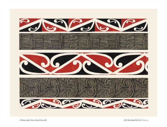Maori Design 2 Art Print for Sale - New Zealand Art Prints