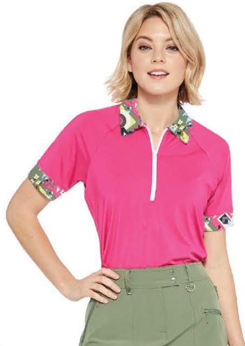 192646375a2 GGblue Ladies Kendall Short Sleeve Golf Polo Shirts - PURSUIT ...