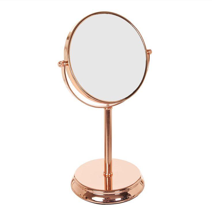 Howards Storage World   Copper Pedestal Mirror 3 X Magnification #howardsstorage #christmaswishlist