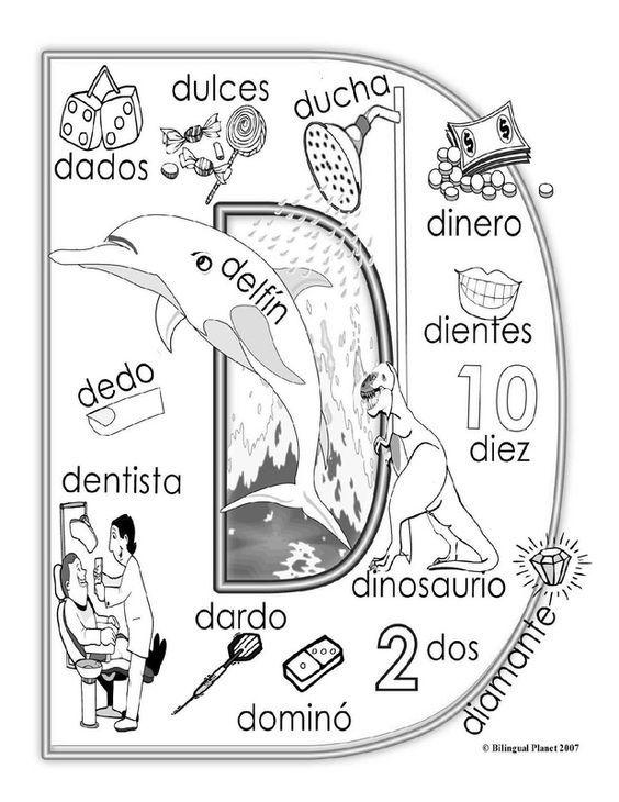 Letra Dd Con Imágenes Fichas Español Preescolar