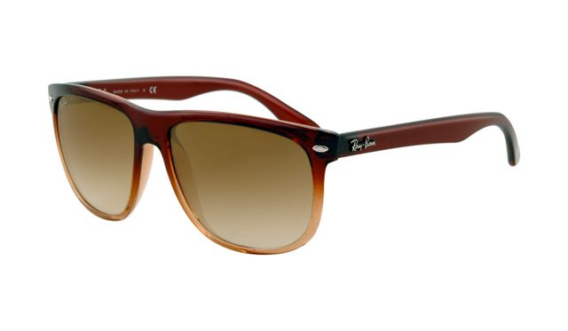 Ray Ban RB4147 Sunglasses Brown Frame Crystal Green Gradient Lens