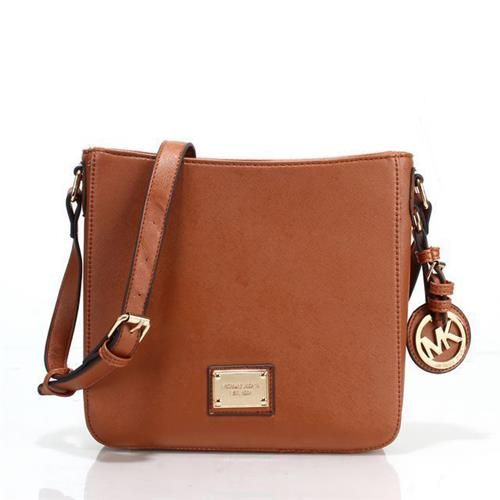 Fashion Michael Kors Jet Set Travel Logo Small Brown Crossbody Bags Online!