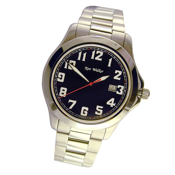 He'll be on time thanks to his Ken Walker Gents Quartz Watch with date feature