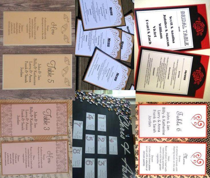 Seating lists & menus