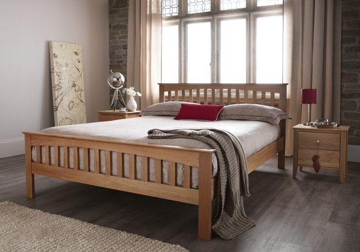 Windsor American White Oak Superking 6ft Bed Frame Oak Bed Frame Oak Double Bed Bed Frame
