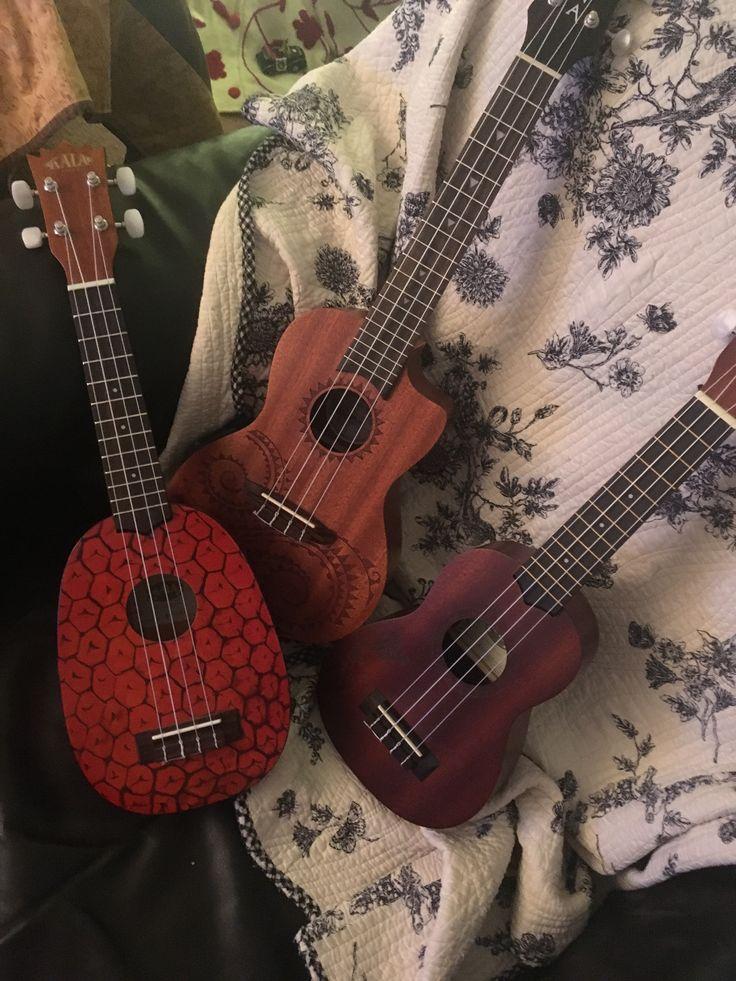 ~Kala Pineapple Ukulele~Luna Tattooed Concert Ukulele~Kala Tattooed Hawaiian Islands Ukulele~ <3