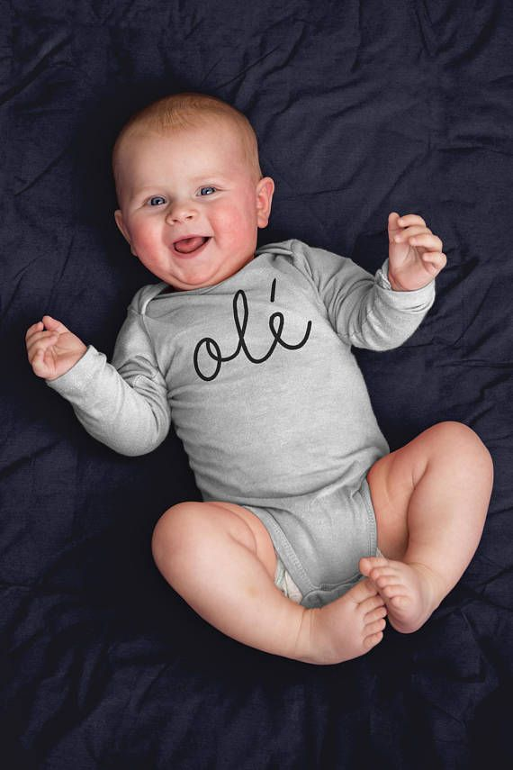 Ole Miss Baby Onesie - Funny Long Sleeve Bodysuit - Mexican Fiesta Birthday - First Newborn Spanish Baby Clothes - Baby Boy Girl Shower Gift. Funny baby onesies by WagaBumps that will grab the attention of family and friends, cause uncontrollable chuckling, and give your baby the last laugh. Designs printed directly on the onesie that will stretch with the fabric and won't fade, peel or crack through machine wash and tumble dry cycles. Three snaps at the bottom allow easy diaper changing