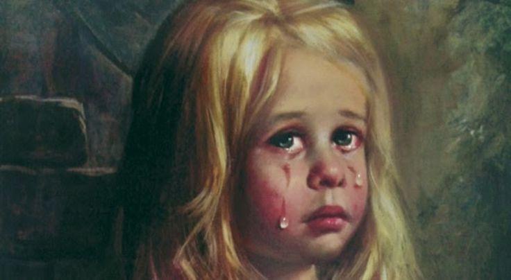 A estranha história por trás dos quadros das crianças chorando