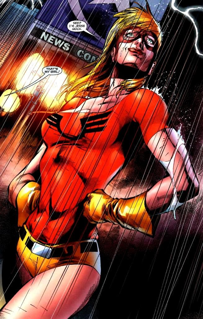 Jesse Chambers was born in Queens, New York to the golden age superheroes Johnny Quick and Liberty Belle. Her father taught Jesse the formula that let him draw energy from the Speed Force, 3x2(9yz)4a, hoping that she would become a super-hero. However, she devoted her life instead to studying superheroes of the past.