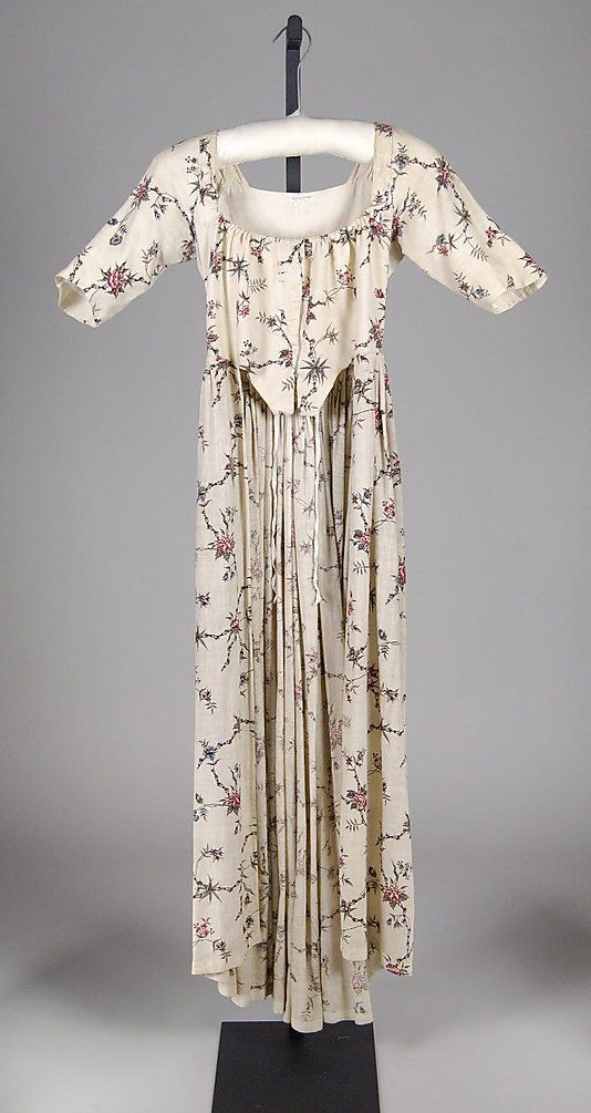 Robe a l'Anglaise Date: ca. 1780 Culture: probably British Medium: Cotton Accession Number: 2009.300.7897
