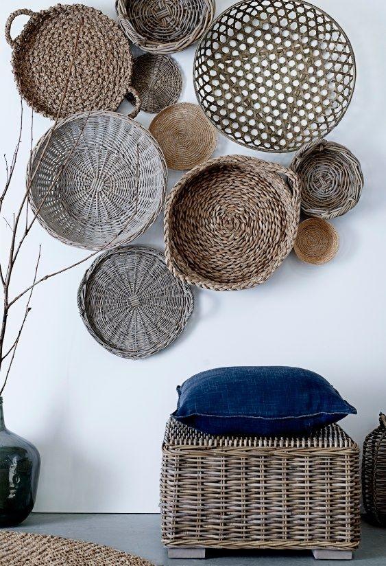 unique ideas for wall art - baskets