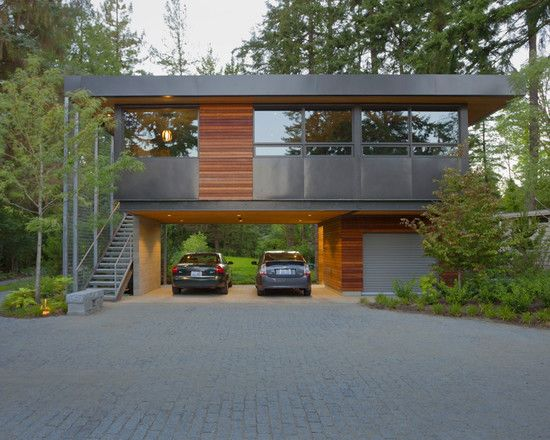 Exterior Guest Lake View Modern Contempo Design, Pictures, Remodel, Decor and Ideas - page 2