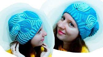 Женская шапка в технике Бриошь спицами. Часть 3 // Brioche Stitch // Women's hats knitting - YouTube