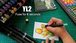 Incredible tutorial of how Ian De Jesus colours this Tulip Color Card! #chameleonpens #pen #marker #alcoholmarkers #markerpen #colour #color #colouring #coloring #colorcard #tulip #flower #floral #create #video #tutorial