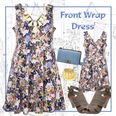 Click here to purchase - Floral Print Front Cross-Over Floral Dress - Plus Size 14, 16 and 18 - City Style Chic - http://www.citystylechic.com.au/new-arrivalsfloral-print-front-cross-over-floral-dress  $37.50 AUD (free standard shipping within Australia)