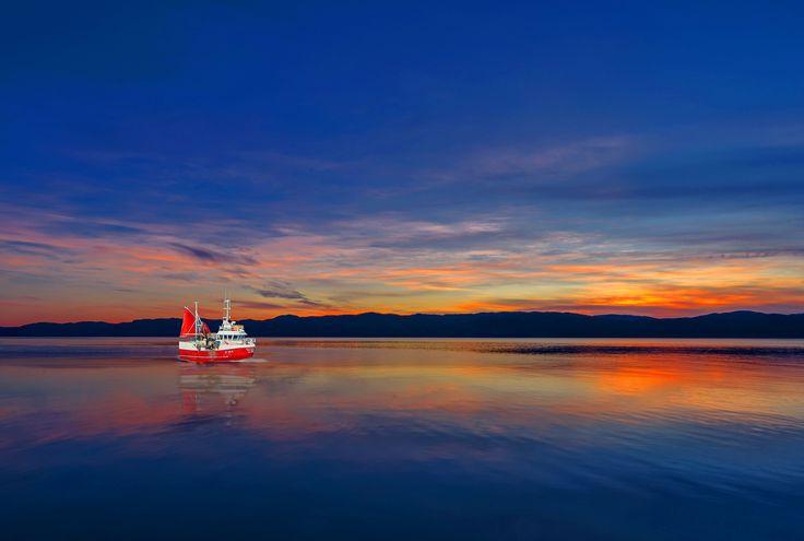 Midnight Sunset of Trondheimfjorden Norway by Aziz Nasuti on 500px