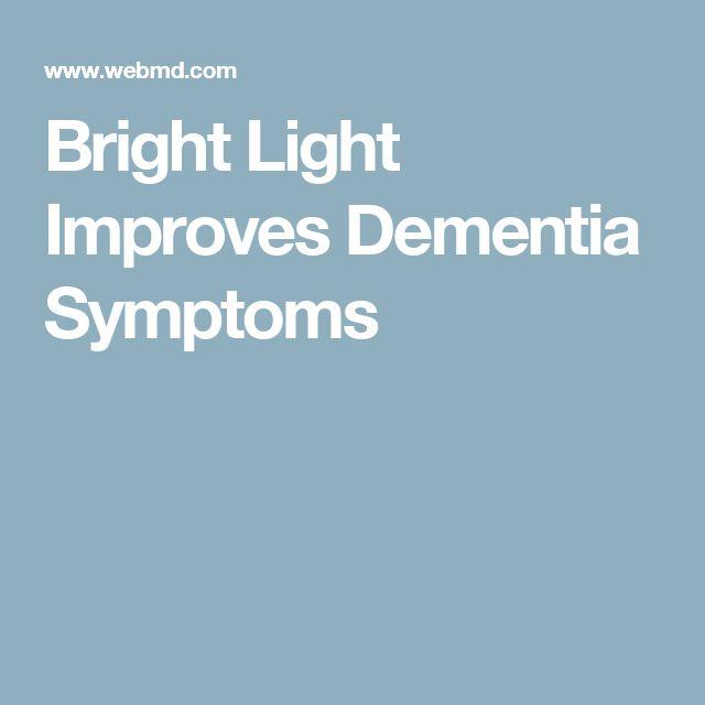 Bright Light Improves Dementia Symptoms